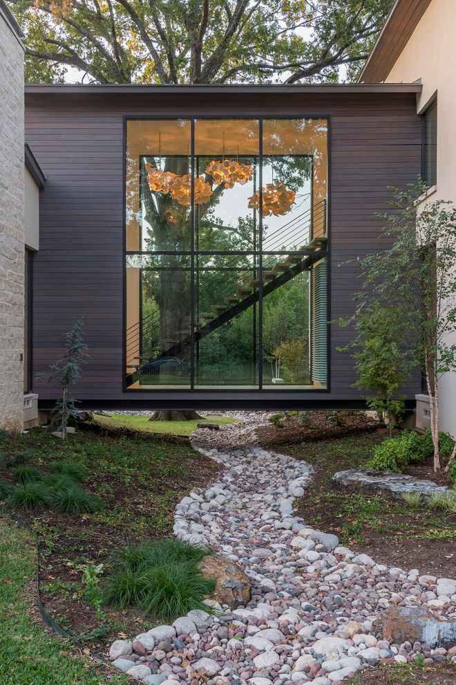 Tidewater Property Management   Contemporary Landscape Also Aquaterra Outdoors Dallas Landscape Large Windows Modern Straight Staircase Texas Woodfin