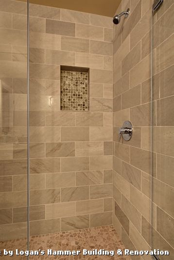 Tiling a Shower Floor or Wall First with Modern Bathroom and Modern