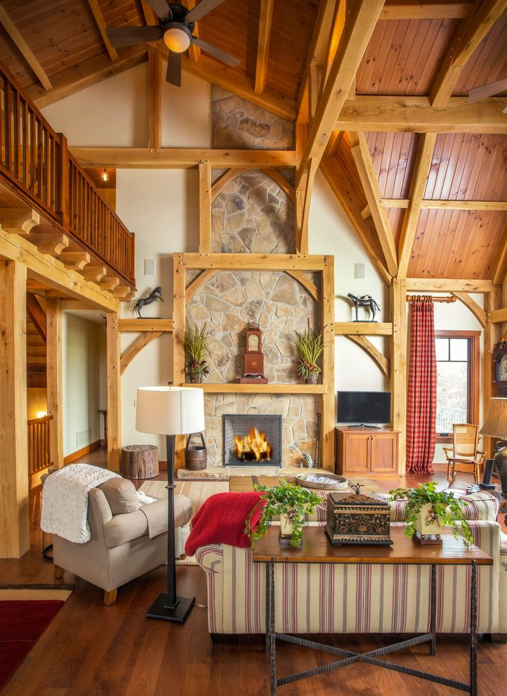 Timber Frame Ceiling Fan : Timber frame pavilion kits farmhouse living room and