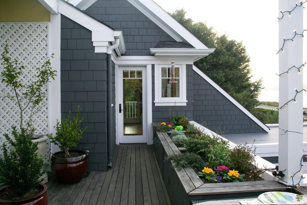 Timbertech Decking Colors with Traditional Deck Also Blue Exterior Ceramic Pots Lattice Roof Planters Shingle Siding Small Trees White Trim Wood Deck