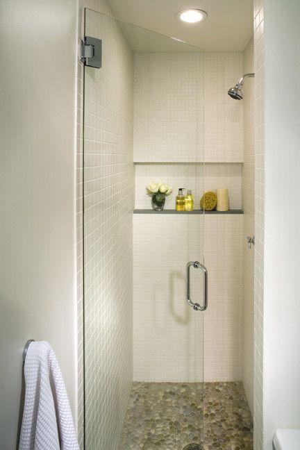 Tiny Shower Stall   Contemporary Bathroom  and Contemporary