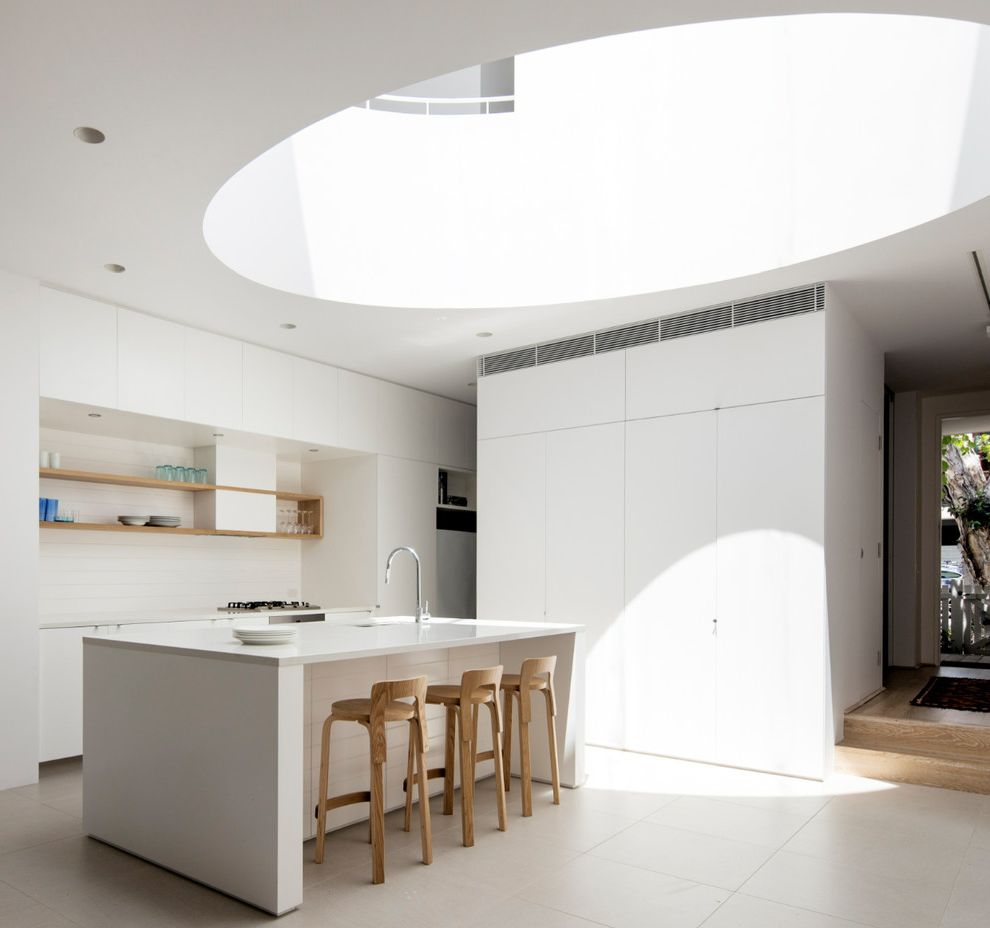 Tj Maxx Stools with Contemporary Kitchen Also Circular Skylight Floating Shelves Skylight White Countertop