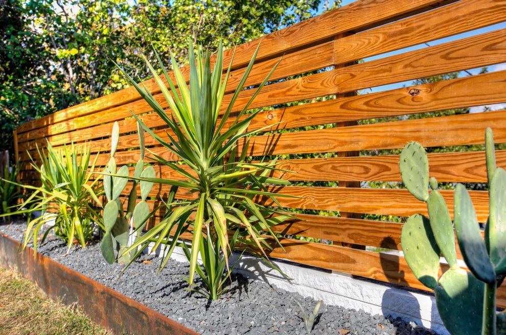 Toscana of Desert Ridge   Modern Landscape Also Cacti Fence Flowerbed Horizontal Fence Steel Planter Stone Wood Fence