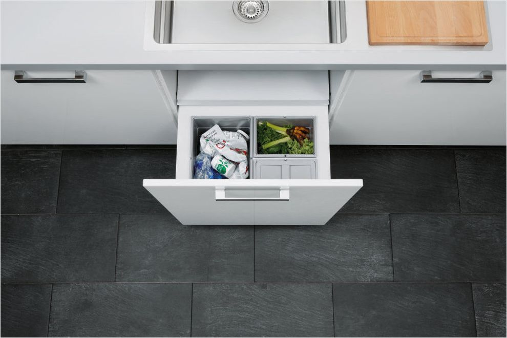 Trash Compactor Reviews with Modern Spaces Also Alno Contemporary Design Contemporary Kitchen Detail German Interior Design Details Kitchen Modern Storage Storage Organisation Waste Recycling Waste Bin Waste Seperation