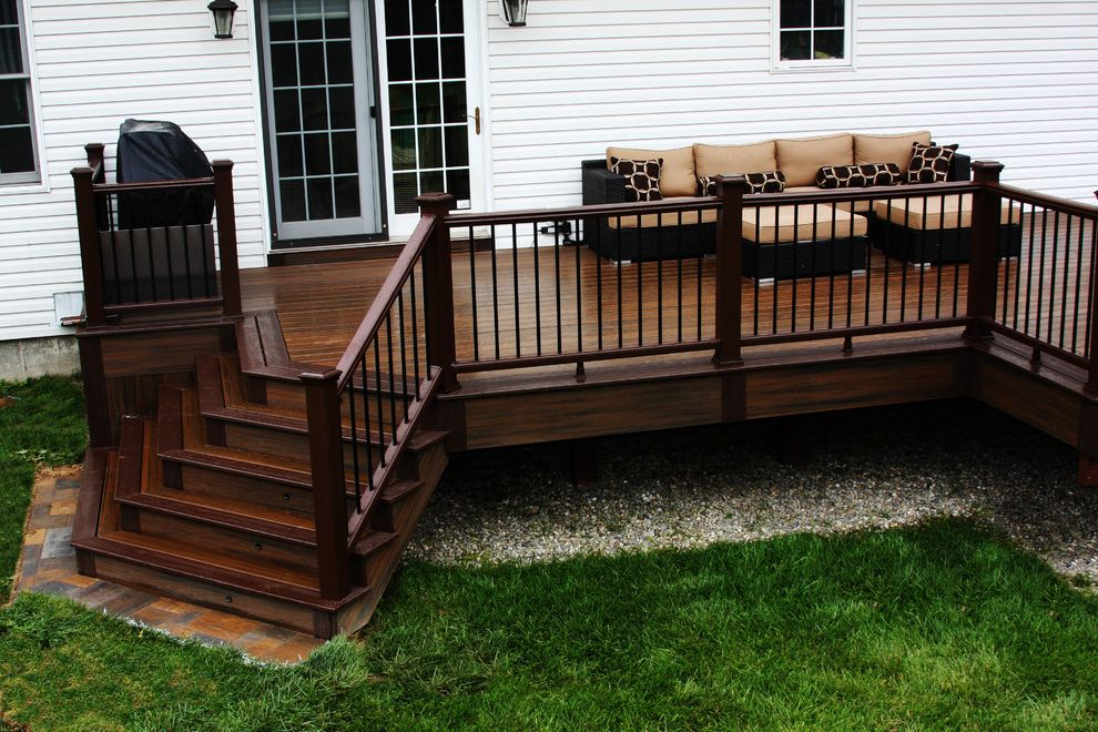 Trex Decking Colors >> Trex Decking Colors for Traditional Entry Also Brick House Brick Wall Double Doors Entrance ...