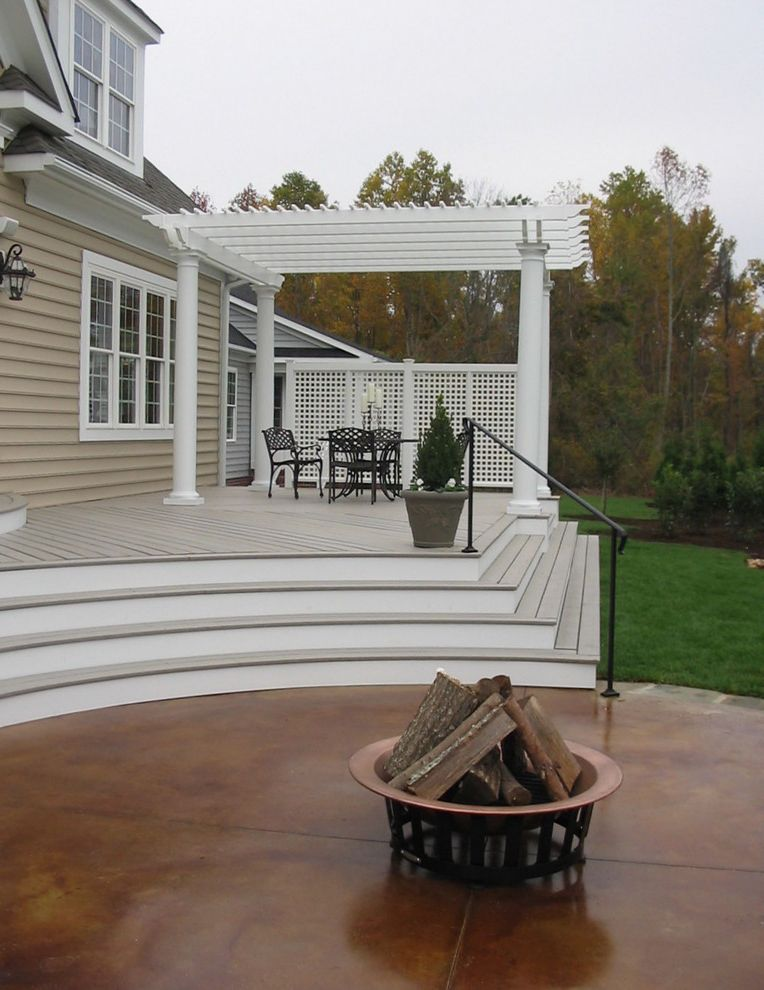 Trex Decking Prices with Traditional Landscape Also Traditional