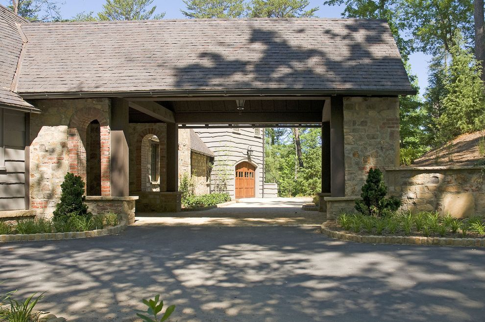 Triska Funeral Home Traditional Exterior Also Arch Carport Driveway