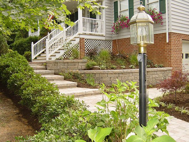Tuckahoe Landscaping    Landscape  and Brick Outdoor Patio Brick Wall Outdoor Landscape Shruberry