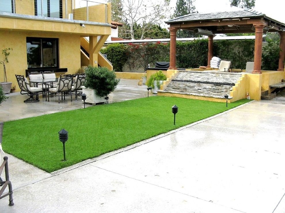 Turf Evolutions with  Spaces Also Backyard Fake Grass Grass Landscape Lawn Lawn Chairs Modern Landscape Patio Shed Turf Turf Grass