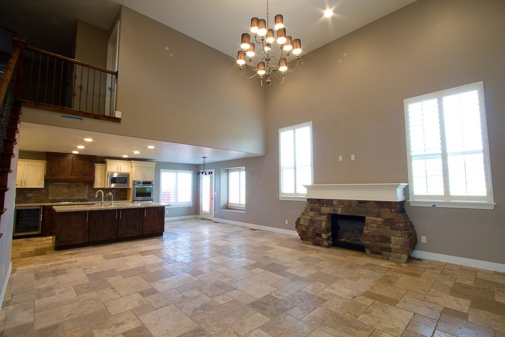 Tuscany Utah with Contemporary Living Room Also Fireplace Great Room Kitchen Living Room Travertine