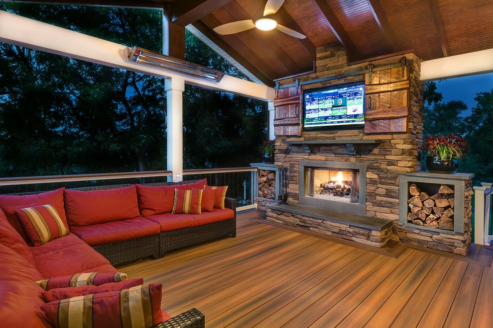 Tv Covers for Outdoors with Rustic Deck  and Amazing Patio Composite Deck Covered Patio Deck Deck Ideas Decking Fiberon Outdoor Mancave Outdoor Tv