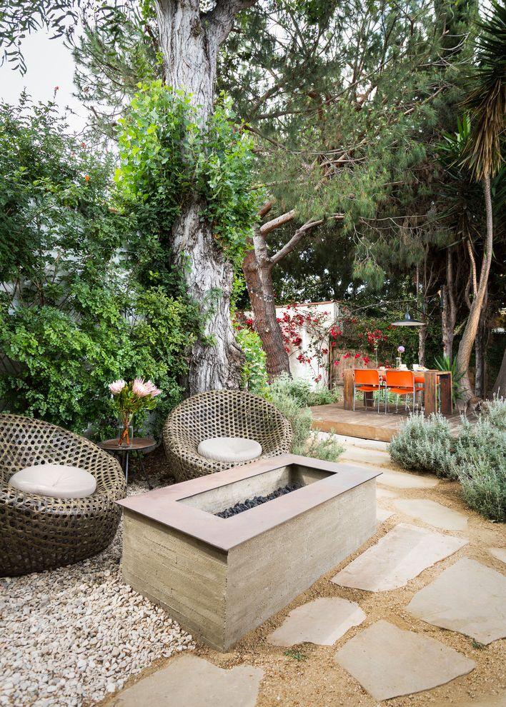 Types of Gravel   Contemporary Patio Also Deck Firepit Flagstone Outdoor Living Patio Chairs Pavers Plants Trees