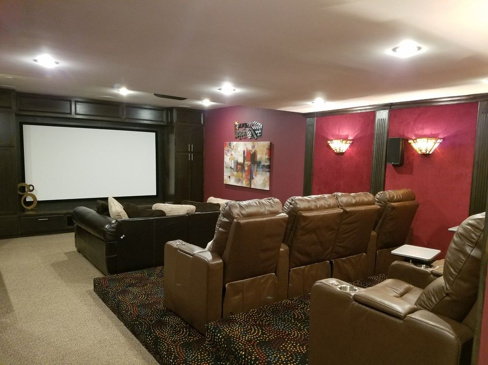 Tysons Theater with Transitional Home Theater  and Transitional