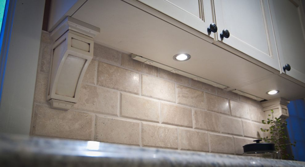 Under Cabinet Lighting with Outlets   Traditional Kitchen Also Traditional