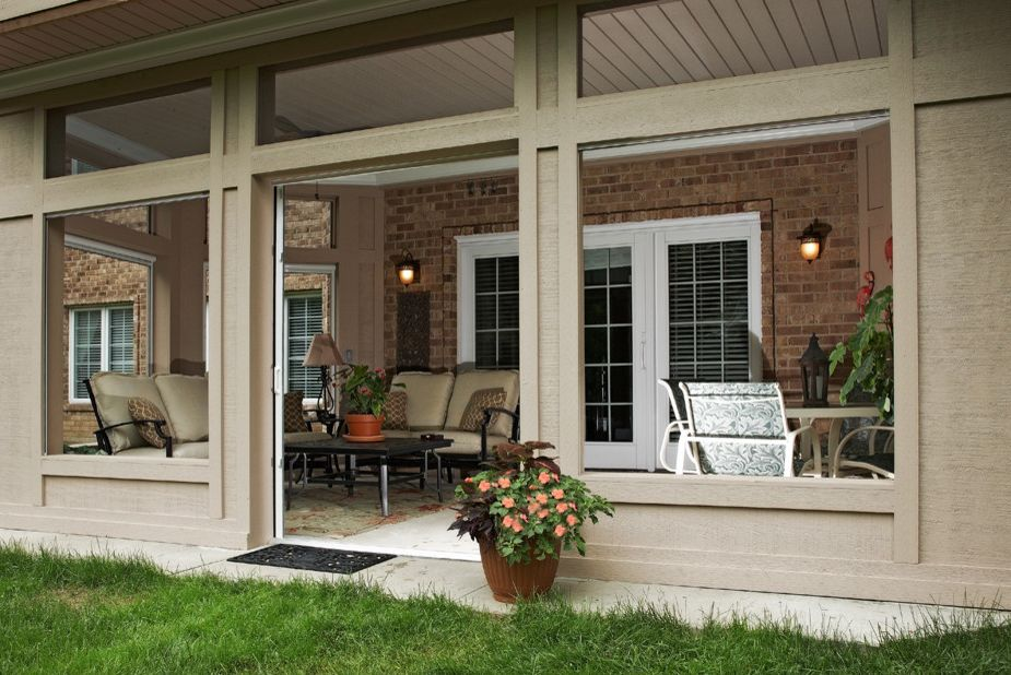 Under Deck Gutter System with Traditional Porch Also Deck Patio Porch Screened in Porch Under Deck Patio Walkout Basement