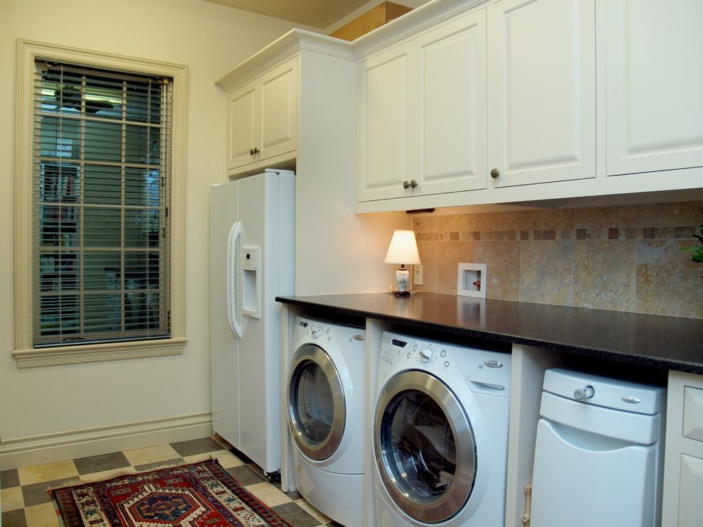 Undercounter Freezer with Ice Maker with Traditional Laundry Room Also Traditional