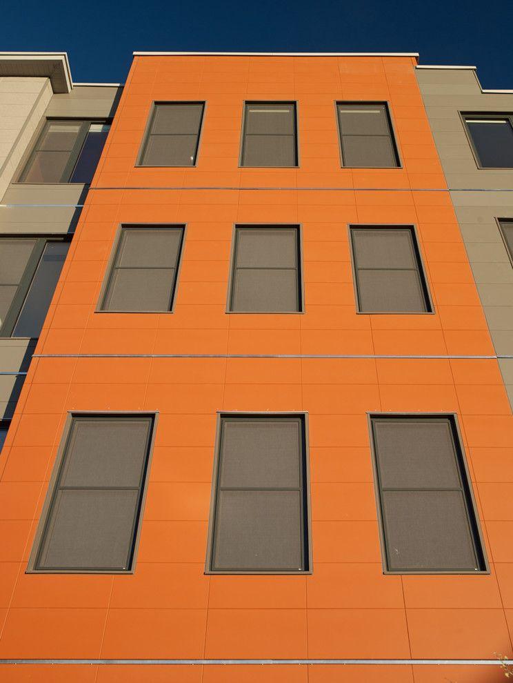Unilux Windows with Modern Exterior and 118 on Munjoy Darren Setlow Photography Hancock Lumber Home Again by Hancock Lumber Maine Munjoy Hill Portland Unilux Windows and Doors Wright Ryan Construction