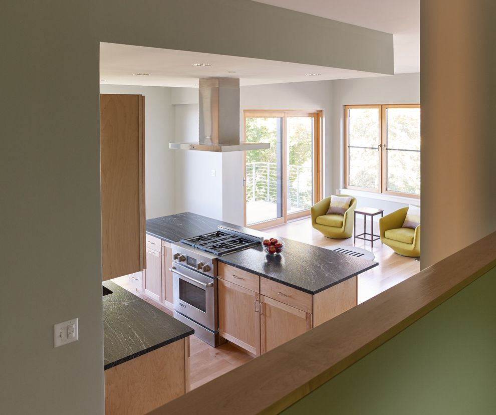 Unilux Windows with Modern Kitchen and 118 on Munjoy Darren Setlow Photography Hancock Lumber Home Again by Hancock Lumber Maine Munjoy Hill Portland Unilux Windows and Doors Wright Ryan Construction