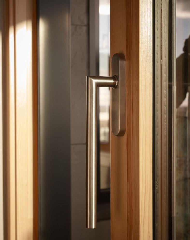 Unilux Windows with Modern Living Room and 118 on Munjoy Darren Setlow Photography Hancock Lumber Home Again by Hancock Lumber Maine Munjoy Hill Portland Unilux Windows and Doors Wright Ryan Construction