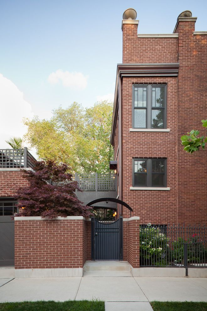 Urban Oasis Chicago   Traditional Exterior Also Arched Entry Brick Exposure Hard Angles