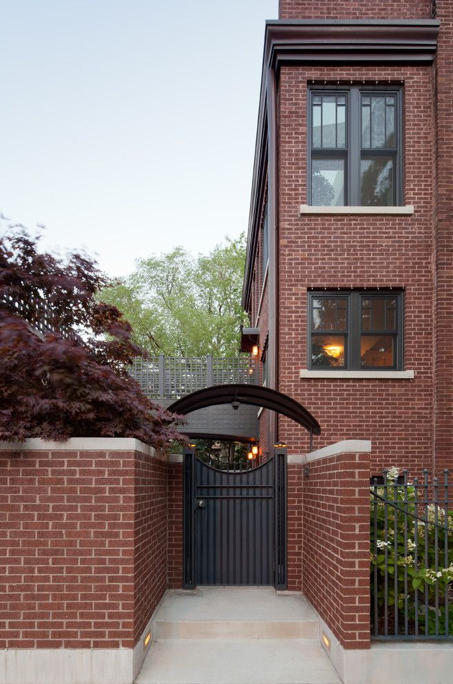 Urban Oasis Chicago with Contemporary Spaces  and Detailed Entry Elegant Exterior Gate Exterior Gate