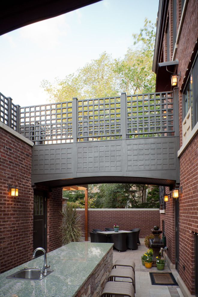 Urban Oasis Chicago with Eclectic Patio Also Eclectic