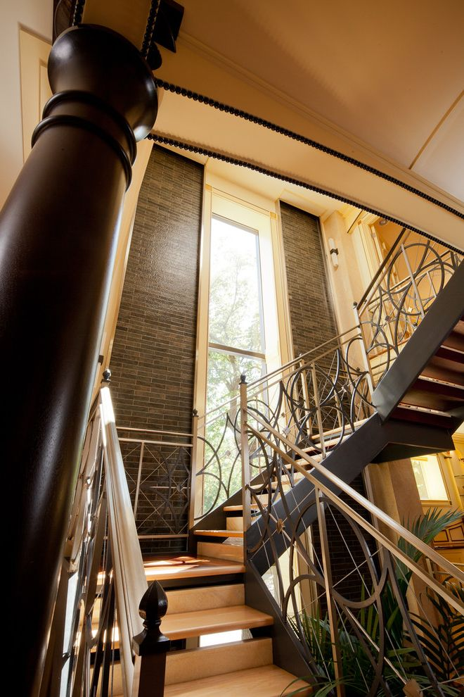 Urban Oasis Chicago with Eclectic Staircase Also Eclectic