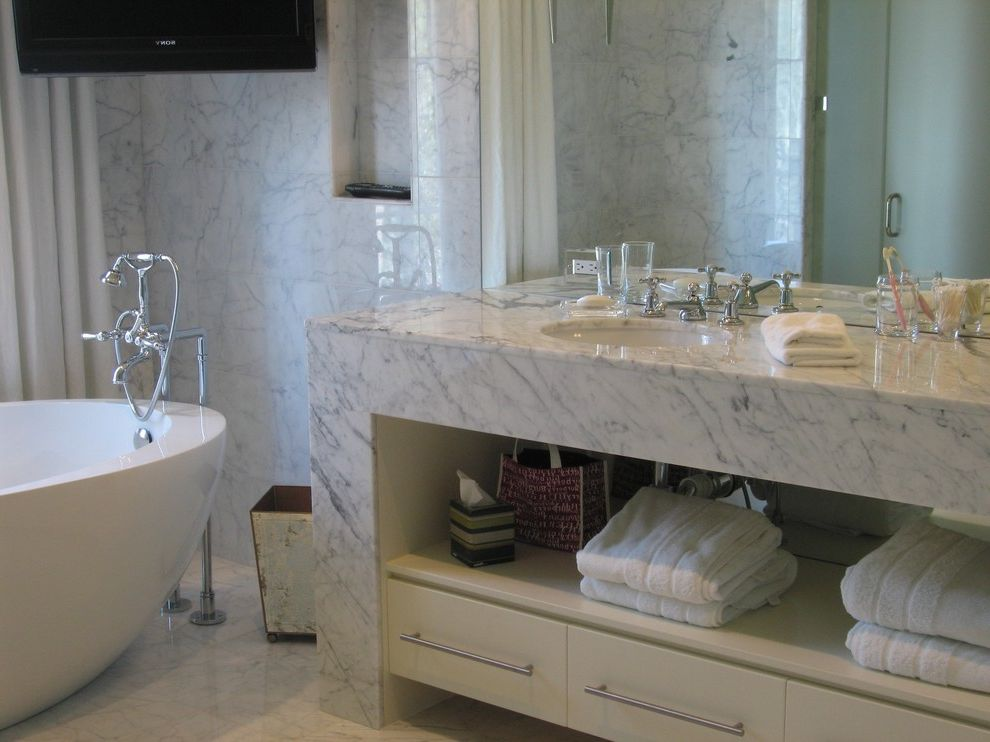 Us Marble Vanity Tops With Contemporary Bathroom And Bathroom Storage  Bathtub Freestanding Marble Countertops Marble Wall