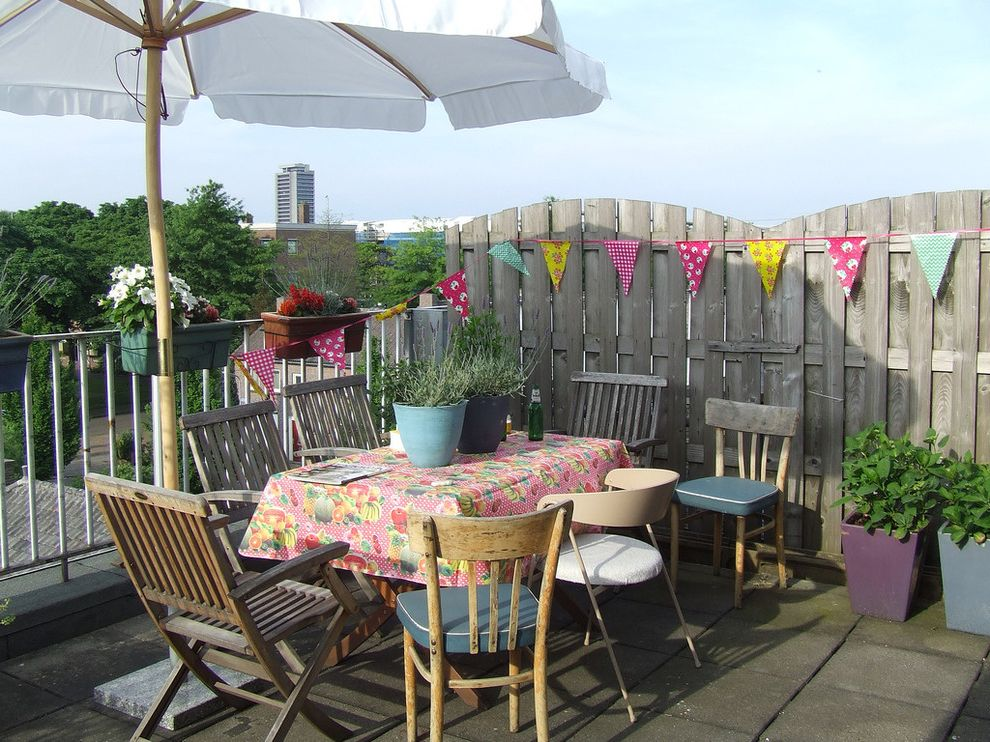 Used Tablecloths for Sale with Eclectic Patio Also Art Color Container Plant Etsy Outdoor Dining Outdoor Entertaining Patio Umbrella Pennant Garland Potted Plant Roof Terrace Tablecloth Urban View Window Box Wood Fencing