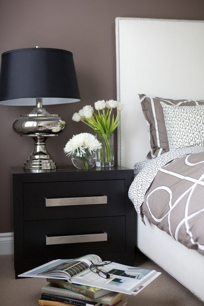 Uttermost.com   Contemporary Bedroom  and Accessories Baseboards Bedside Table Chandelier Floral Arrangement Nailhead Trim Neutral Colors Nightstand Platform Bed Table Lamp Tulips Upholstered Headboard White Wood Wood Trim