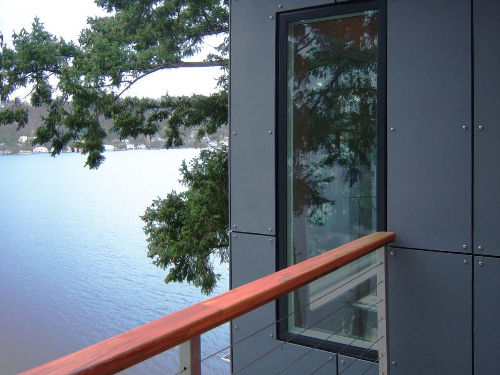 Vaproshield with Modern Exterior  and Acp Aluminum Architecture Composite Hardi Kirkland Lake Modern Panel Railing Rain Screen Rainscreen Remodel Residential Sammamish Seattle Wood