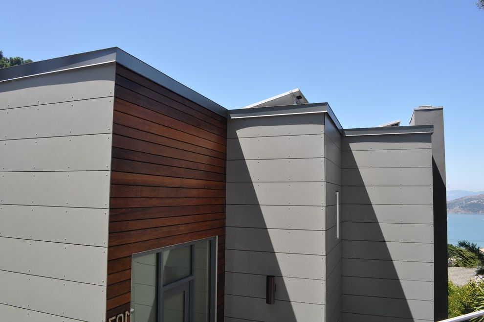 Vaproshield with Modern Exterior  and Exterior Grey Ipe Marin Modern Rainscreen Sausalito Siding Swisspearl