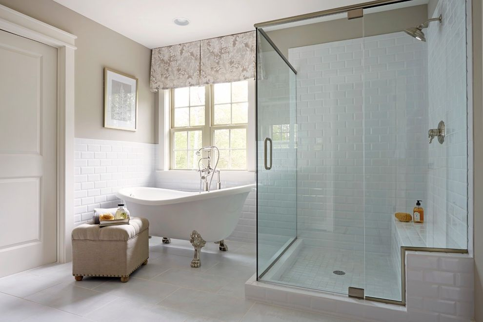 Victoria and Albert Tubs Traditional Bathroom Also Beveled Subway ...
