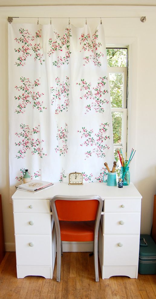 Vintage Desks for Sale   Shabby Chic Style Home Office  and Curtain Hardware Curtains Desk Chair Desktop Drapes Floral Curtain Panel White Desk Window Treatments Wood Flooring