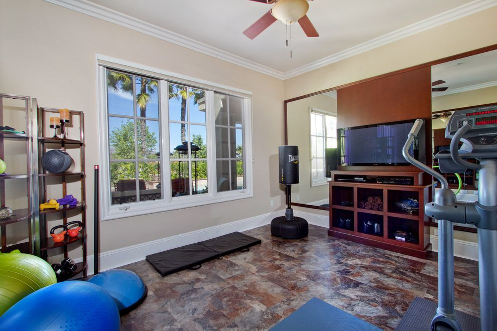Vinyl Fencing San Diego   Traditional Home Gym Also Exercise Exercise Room Fitness Room Gym Home Fitness Home Gym Mirrored Wall San Diego San Diego Kitchen Bath Design San Diego Kitchen Design San Diego Kitchen Designers Workout Workout Room