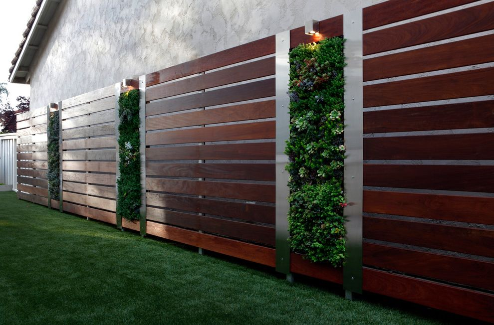 Vinyl Fencing San Diego with Contemporary Landscape Also Vertical Garden Design San Diego