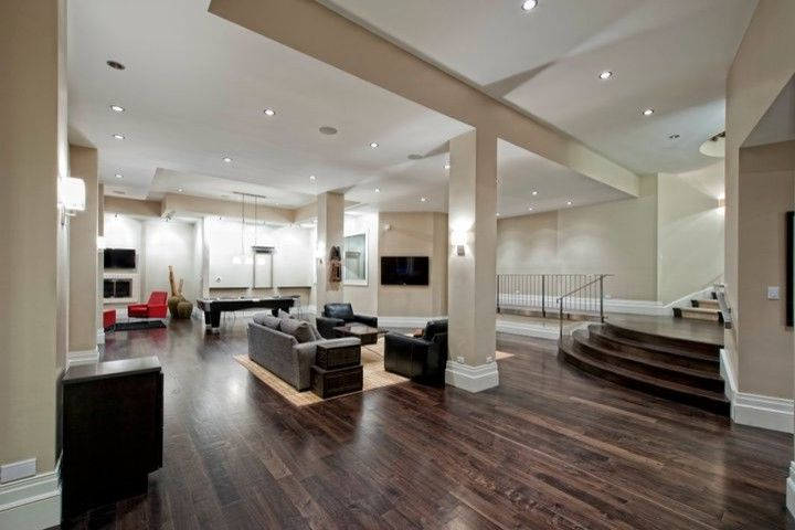 Vinyl Flooring for Basement   Contemporary Basement Also Contemporary