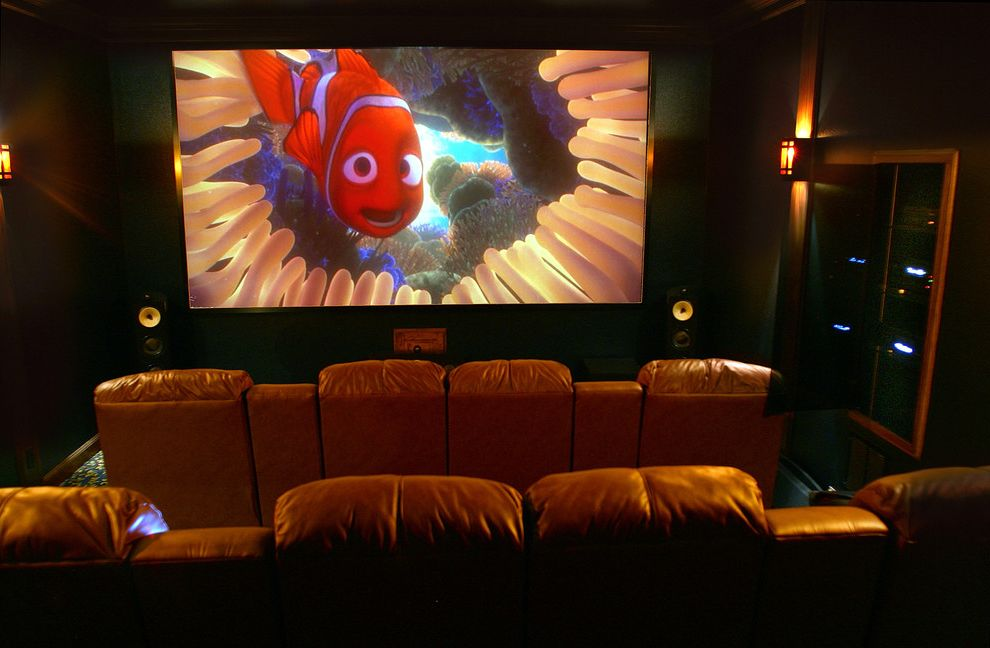 Waco Theaters   Traditional Home Theater  and Custom Seating Home Electronics Home Media Theater Seating