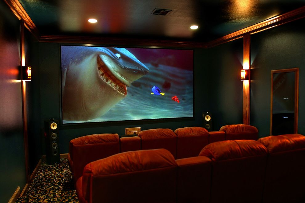 Waco Theaters with Traditional Home Theater Also Audio Video Bw Electronics H Customs Hcustoms Home Electronics Media Room Projection Screen Projector Speakers Theater Room