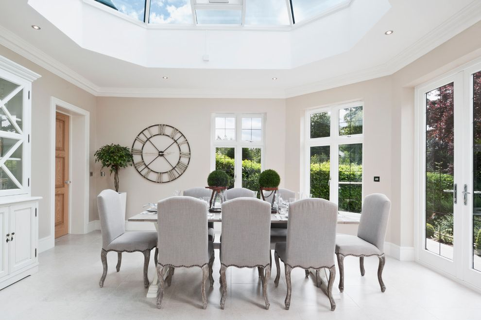 Wall Clocks with Chimes   Modern Dining Room Also Atmosphere Carved Wood Clock Conservatory Cream Dining Hutch Light Gray Natural Sky Lights Upholstered Dining Chairs