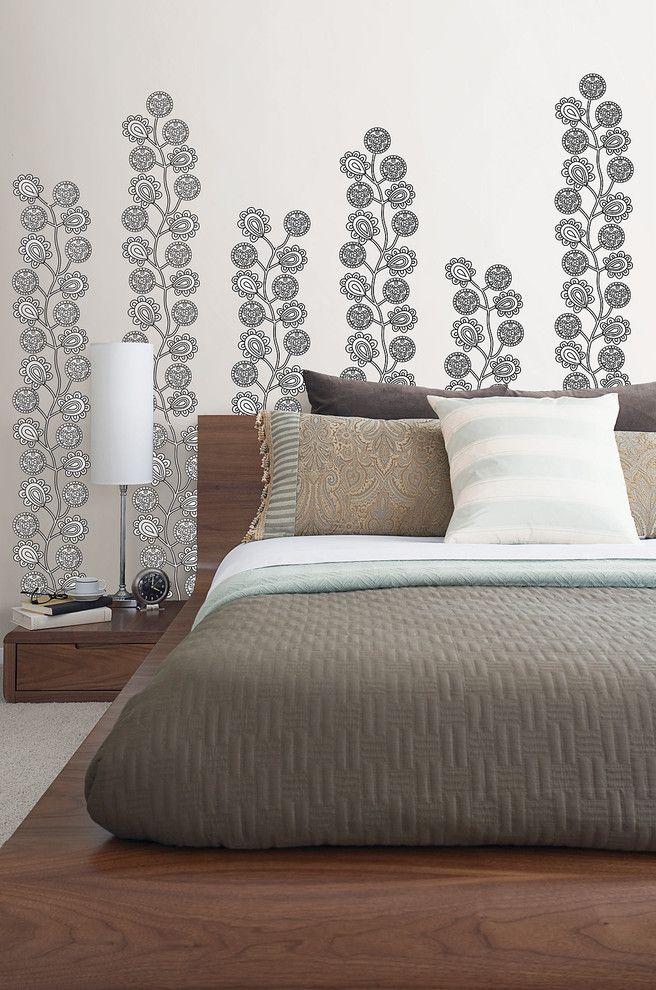 Wallpop   Contemporary Bedroom  and Contemporary