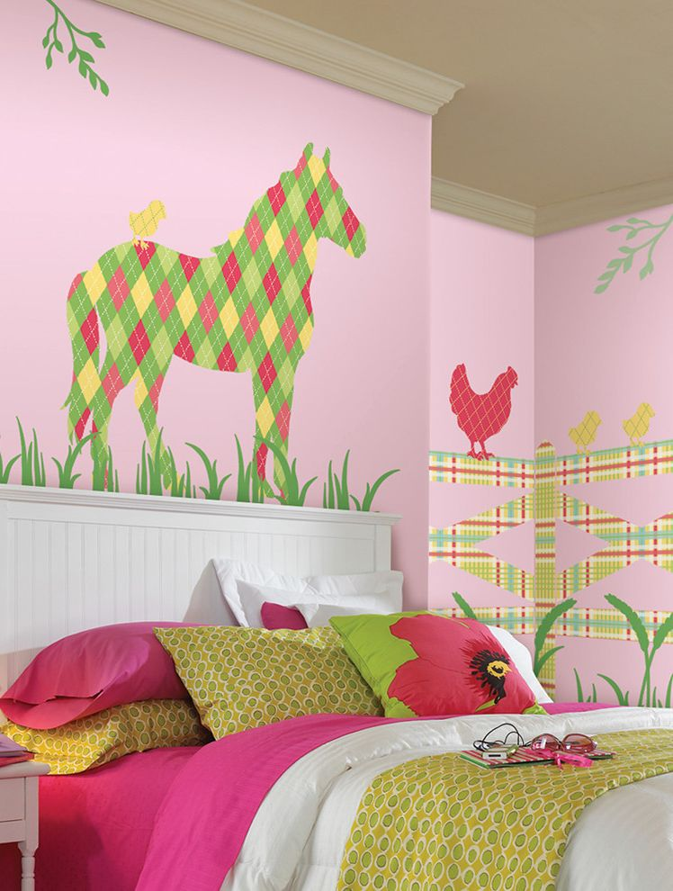 Addison The Horse Wall Art Kit From Wallpops $style In $location