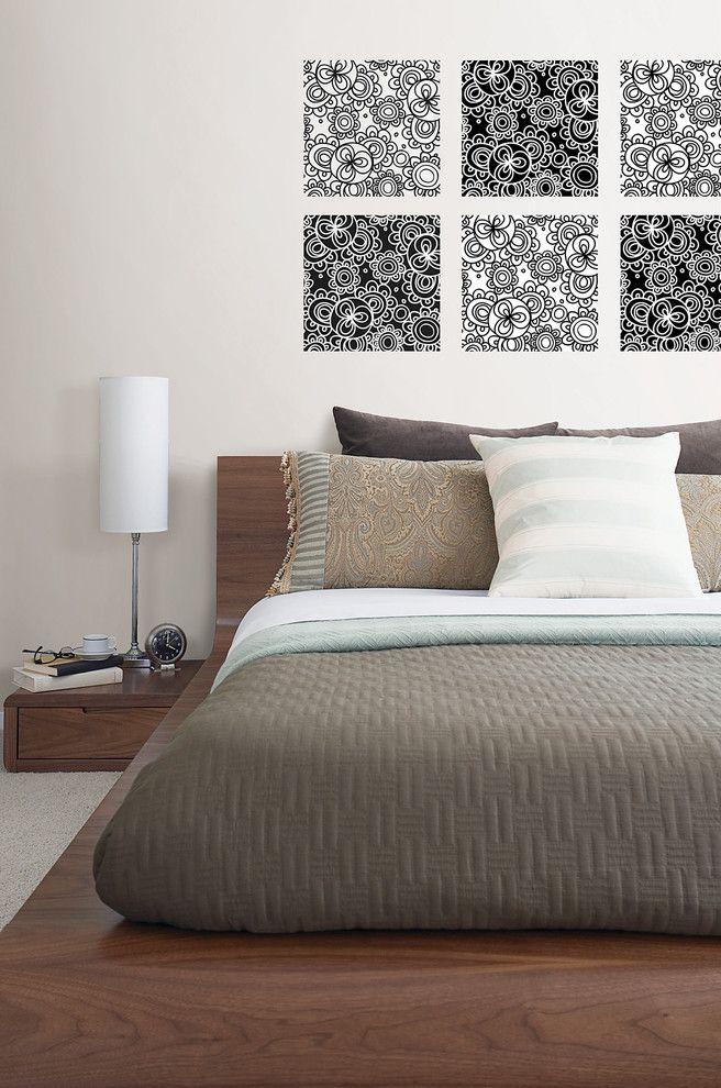 Wallpop with Contemporary Bedroom  and Contemporary