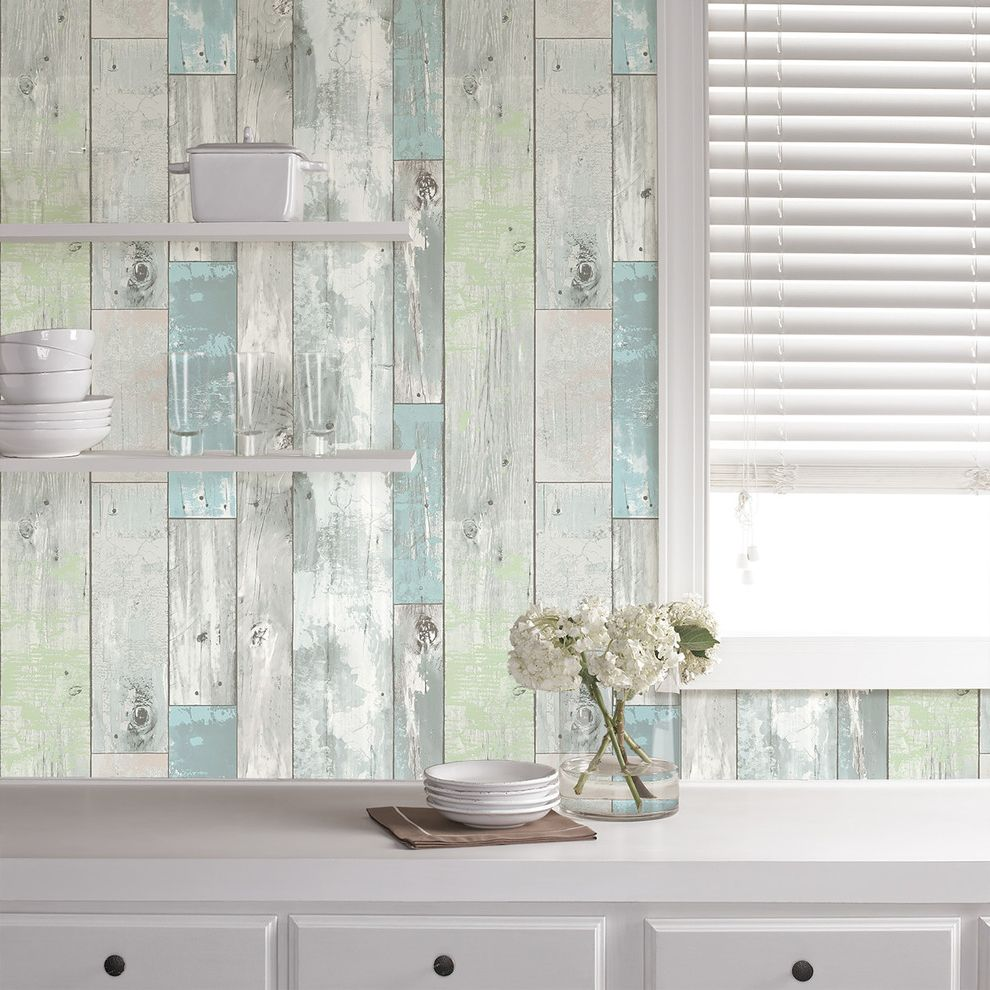 Wallpop With Farmhouse Kitchen Also Nuwallpaper Peel And Stick Wallpaper Rustic Kitchen Rustic Wallpaper Rustic Wood Wallpaper Shabby Chic Shabby Chic Kitchen Wall Decor Wallpaper Wallpops Wood Wallpaper Finefurnished Com