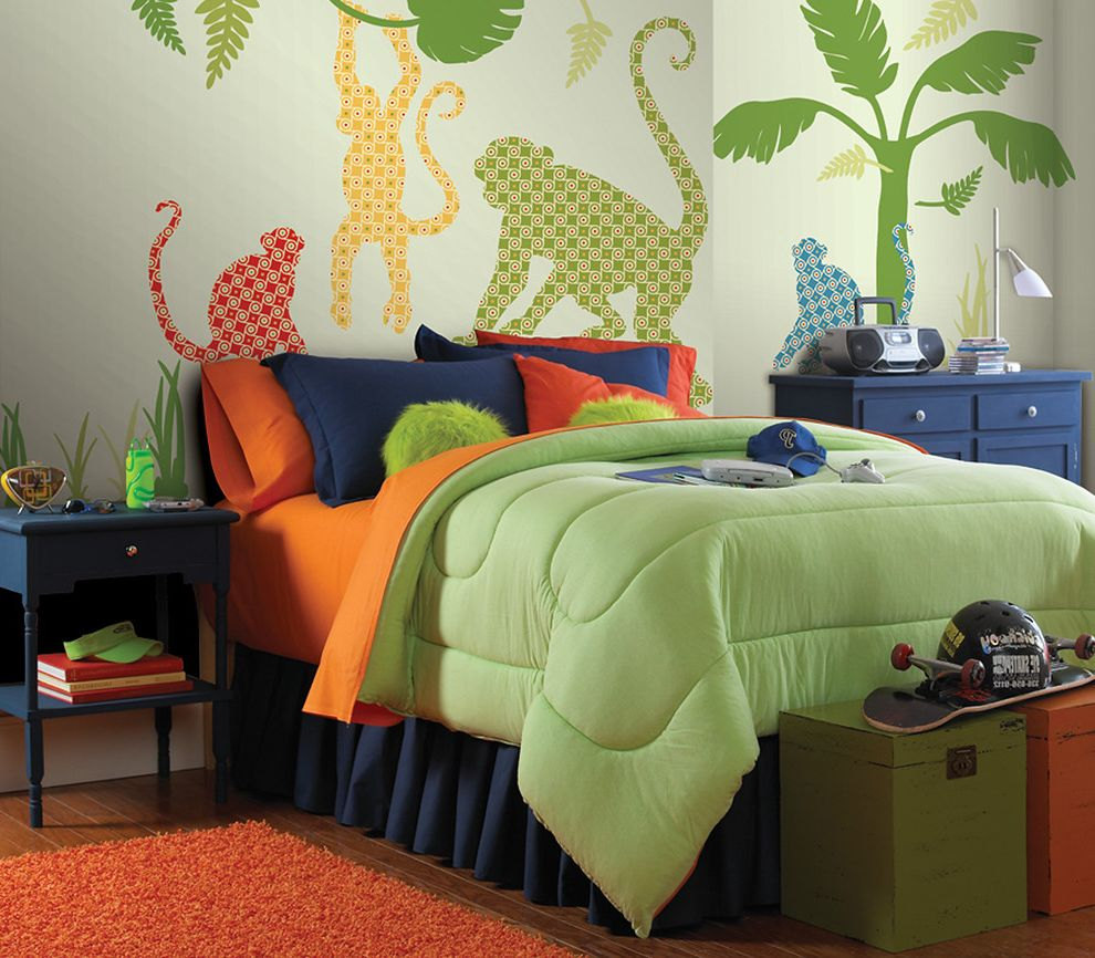 Wallpop with Traditional Kids Also Jungle Kids Decor Monkey Safari Wall Decals Wallpops