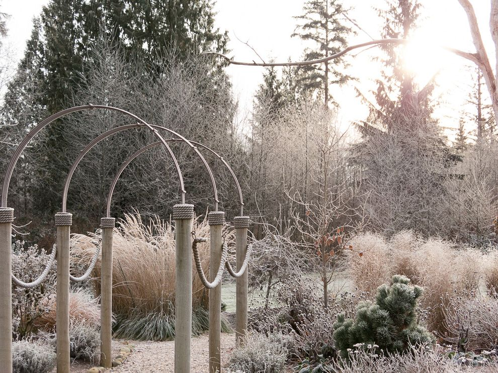 Walter Andersen Nursery    Spaces Also Arbor Frost Grasses Path Winter