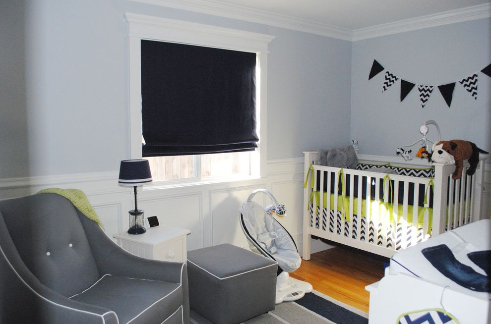 Walter Andersen Nursery with Contemporary Kids Also Blue Nursery Ceiling Trim Des Moines Grey Nursery Iowa Nursery Roman Shades Wainscoting White Ceiling Trim White Wainscoting