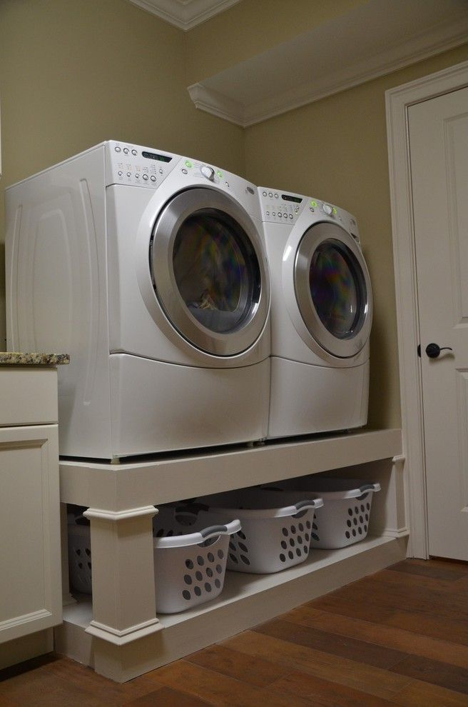 washer and dryer stands. Washer And Dryer Platform Traditional Laundry Room Stands