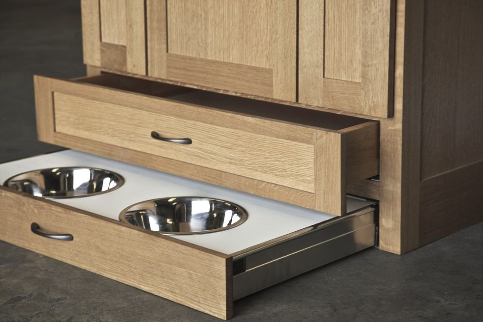Water Bowl for Dog Crate with  Spaces  and Accessories Cabinet Cabinetry Cabinets Color Dewils Floor Flooring Furniture Furniture and Accessories Glass Handle Living Room Oregon Portland Sink