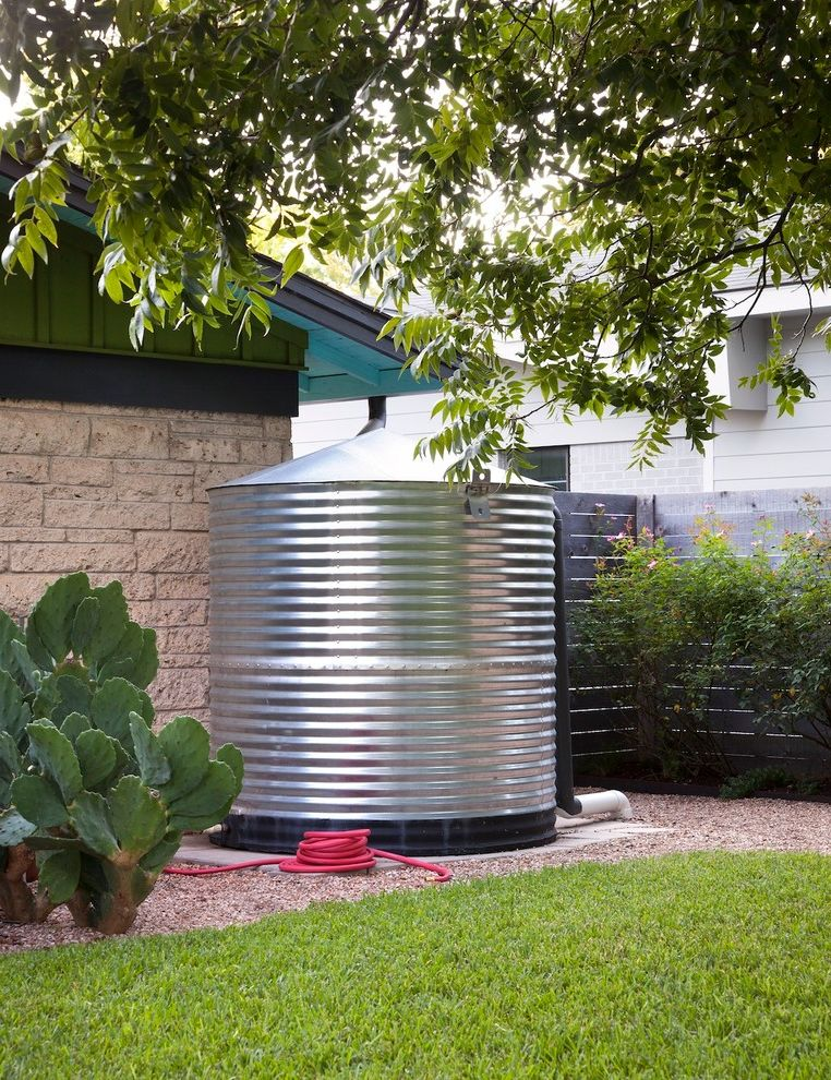 Water Holding Tank for House with Industrial Exterior and